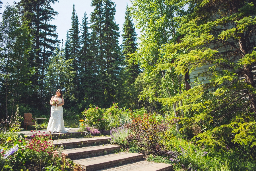 bride walking down aisle calgary wedding photographer emerald lake lodge anna michalska
