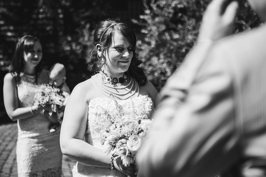 black and white bride calgary wedding photographer emerald lake lodge anna michalska