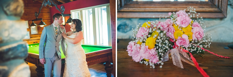 pink and yellow bridal bouquet calgary wedding photographer emerald lake lodge anna michalska