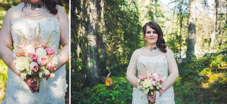bridal bouquet calgary wedding photographer emerald lake lodge anna michalska