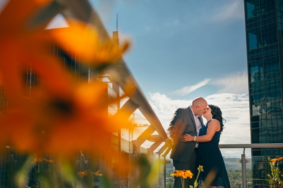 tanya + scott { calgary rooftop engagement pictures }