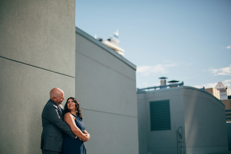 couple calgary rooftop engagement pictures sheraton hotel