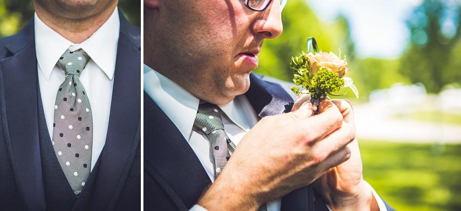 groom tie and boutonniere baker park wedding calgary wedding photographers anna michalska