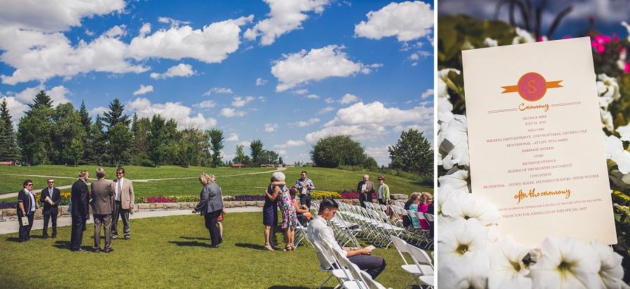 baker park wedding calgary wedding photographers anna michalska ceremony program