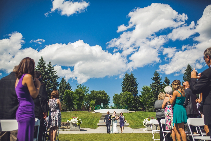 nicole + mike { baker park wedding calgary }