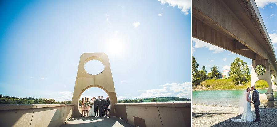 edworthy park calgary wedding photographers anna michalska bridge bridal party