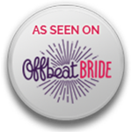 Featured on Offbeat Bride - Click for feature
