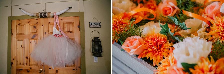 pink flower girl dress orange flowers spring valley chapel rustic wedding alberta calgary photographer anna michalska