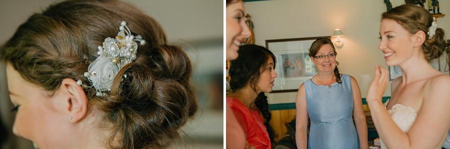 hair ornament bride spring valley chapel rustic wedding alberta calgary photographer anna michalska