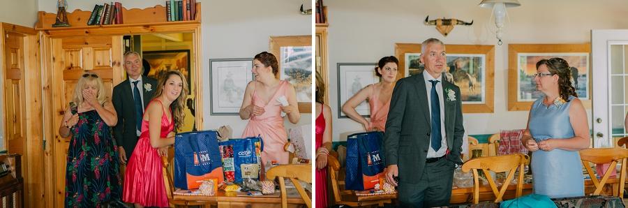 father of bride sees bride spring valley chapel rustic wedding alberta calgary photographer anna michalska