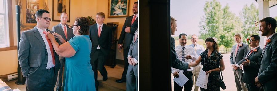 groomsmen getting ready spring valley chapel rustic wedding alberta calgary photographer anna michalska