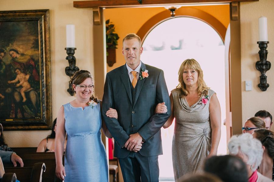 groom walking down mothers aisle spring valley chapel rustic wedding alberta calgary photographer anna michalska