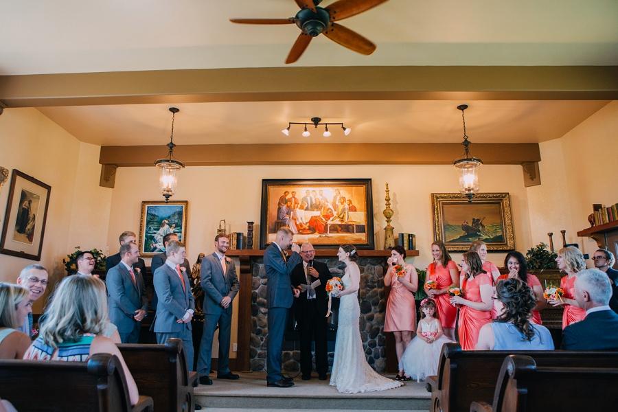 spring valley chapel rustic wedding alberta calgary photographer anna michalska ceremony