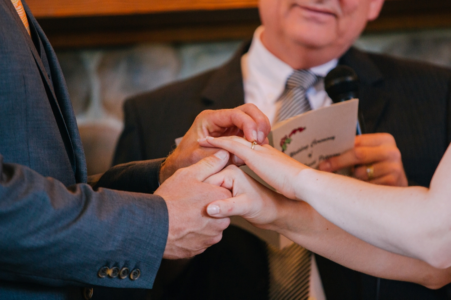 exchange of rings spring valley chapel rustic wedding alberta calgary photographer anna michalska