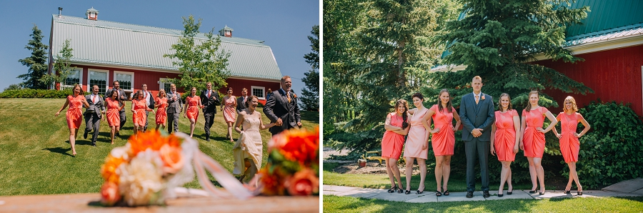 bride groom wedding party spring valley chapel rustic wedding alberta calgary photographer anna michalska