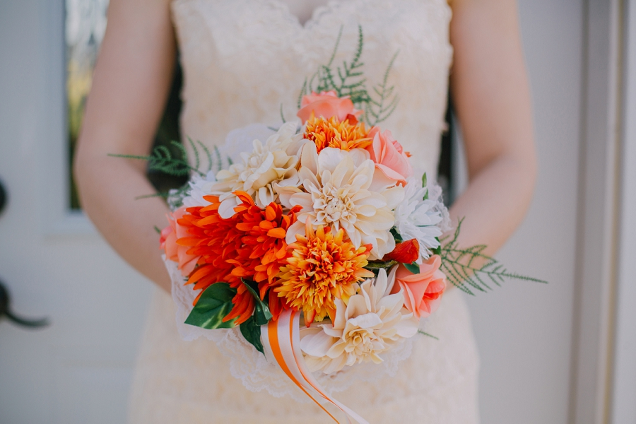 orange bouquet spring valley chapel rustic wedding alberta calgary photographer anna michalska