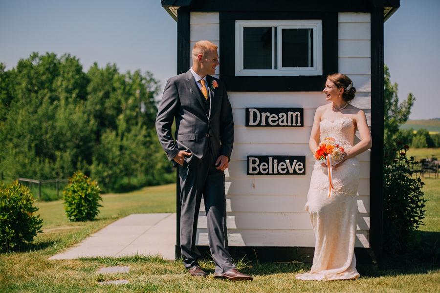 bride groom believe dream spring valley chapel rustic wedding alberta calgary photographer anna michalska