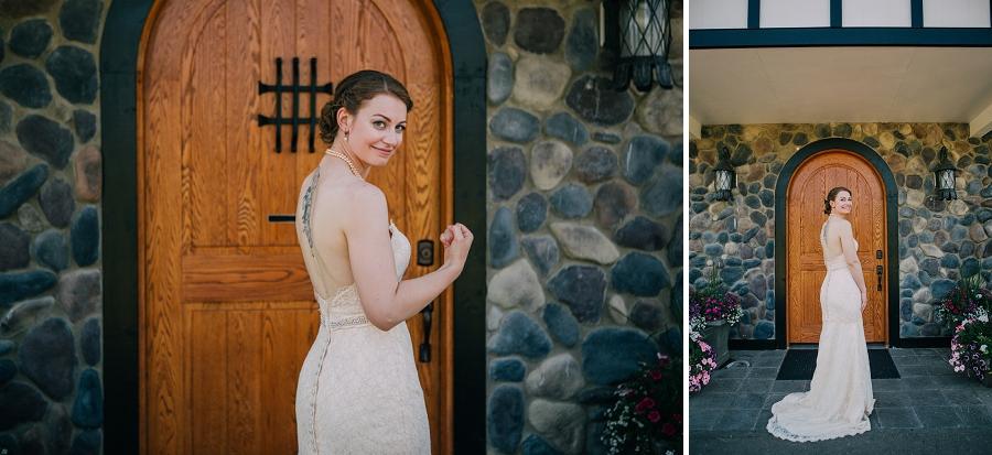 bridal portrait spring valley chapel rustic wedding alberta calgary photographer anna michalska