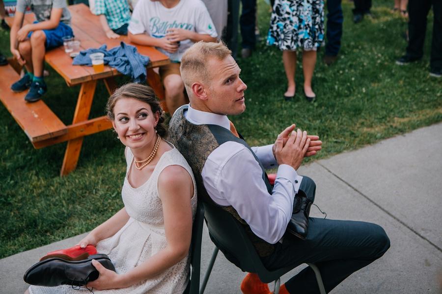 shoe game wedding millarville farmer's market rustic wedding alberta calgary photographer anna michalska