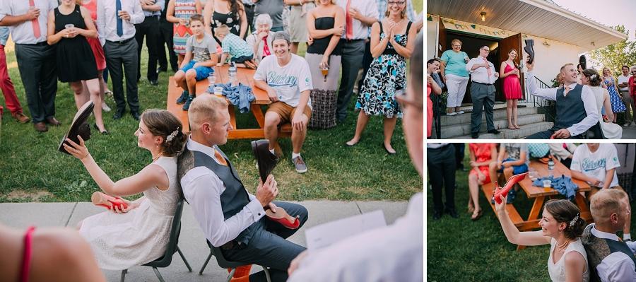 shoe game bride and groom millarville farmer's market rustic wedding alberta calgary photographer anna michalska