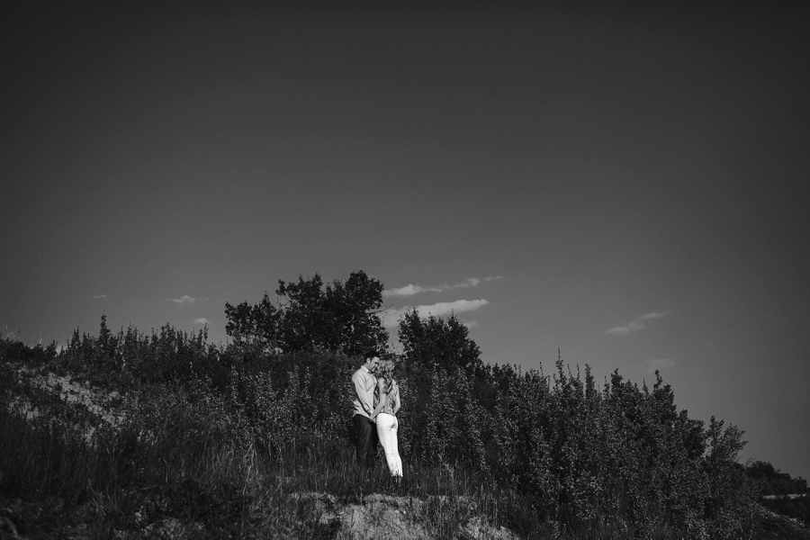 black and white couple sunset north glenmore park calgary engagement photos anna michalska wedding summer