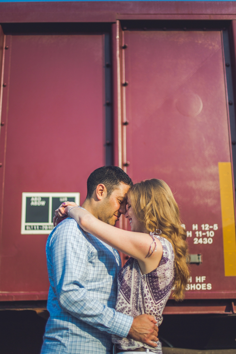 trainyard sunset ramsay calgary engagement photos anna michalska wedding summer