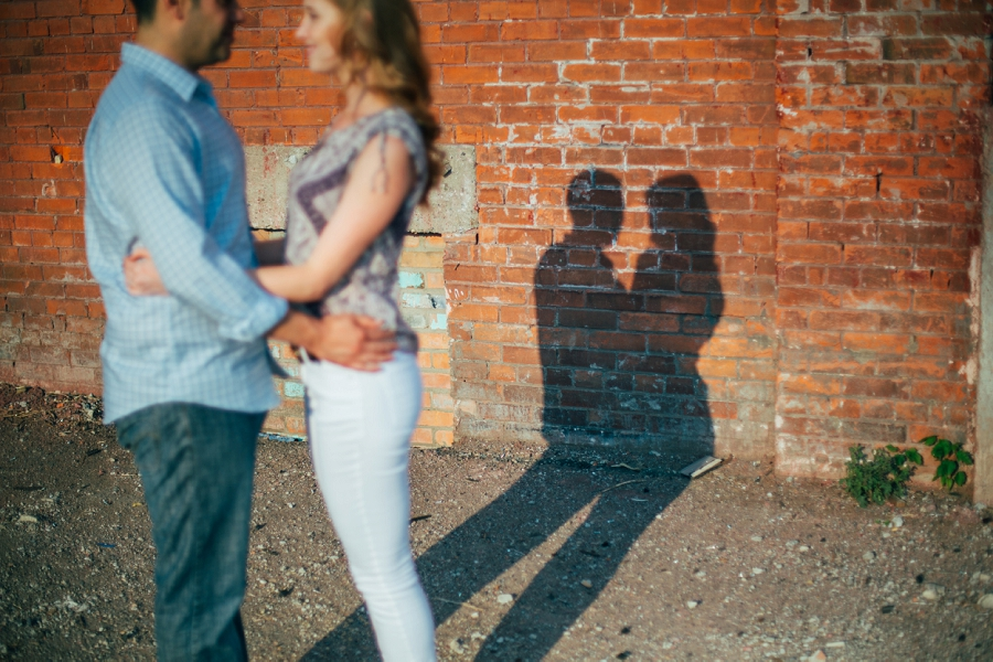 sunset ramsay calgary engagement photos anna michalska wedding summer shadow couple