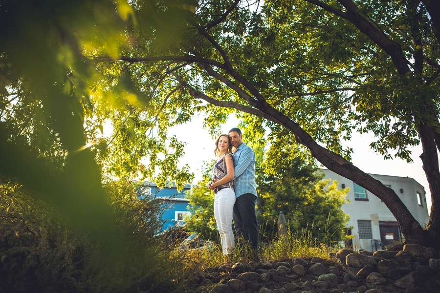 green tree sunset ramsay calgary engagement photos anna michalska wedding summer