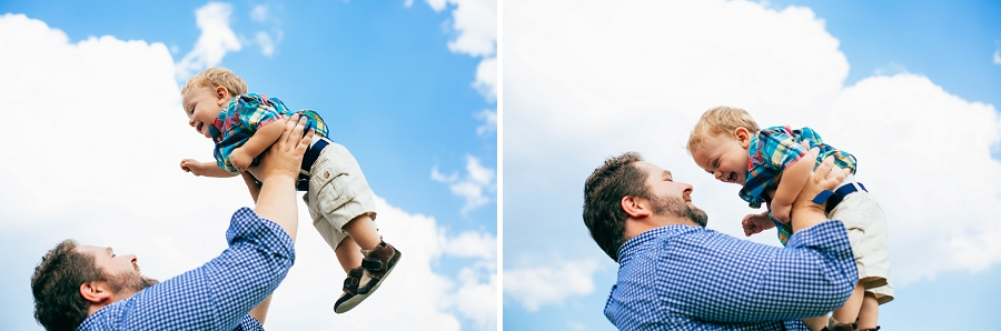 father and son tossing in air calgary family photographer candid family photos