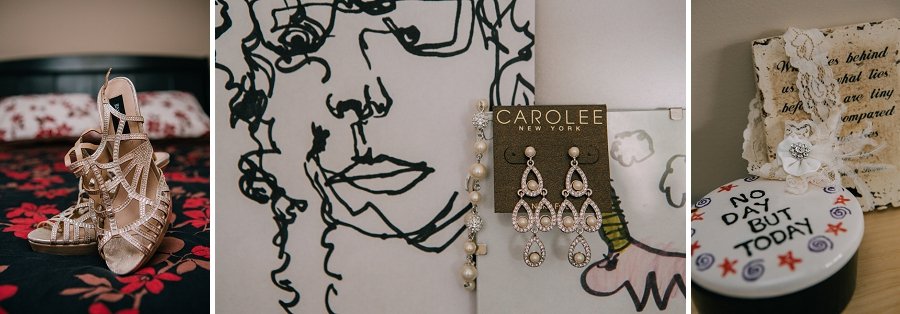 bridal sandal shoes pearl earrings calgary wedding photographers anna michalska