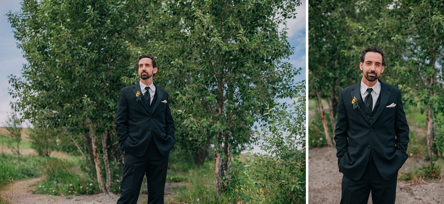 groom nose hill park calgary wedding photographers anna michalska