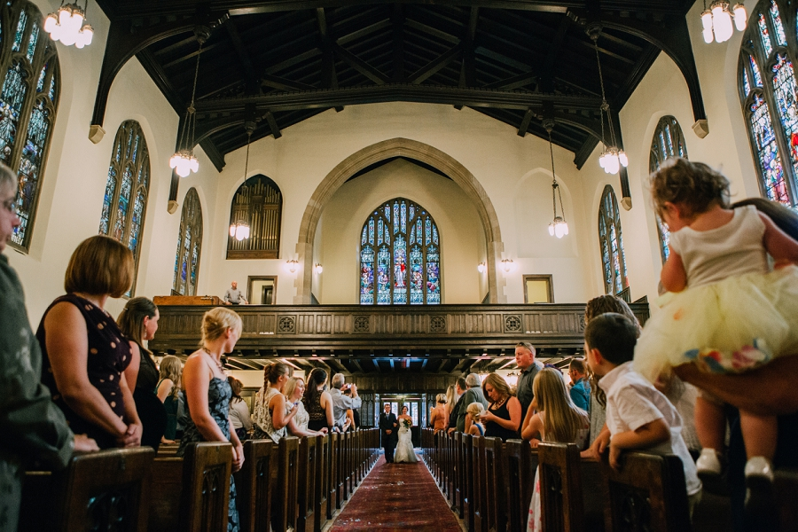 knox united church calgary wedding photographer anna michalska father walks bride down aisle