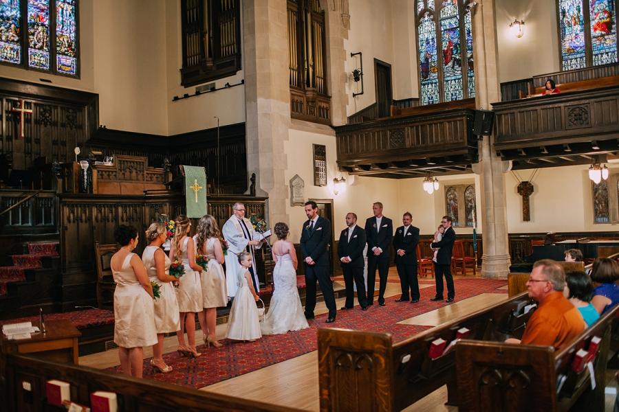 bridal party knox united church calgary wedding photographer anna michalska