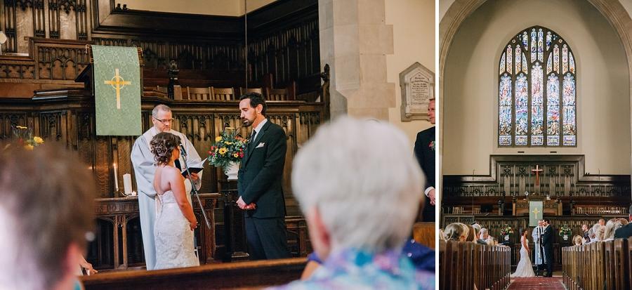bride and groom knox united church calgary wedding photographer anna michalska