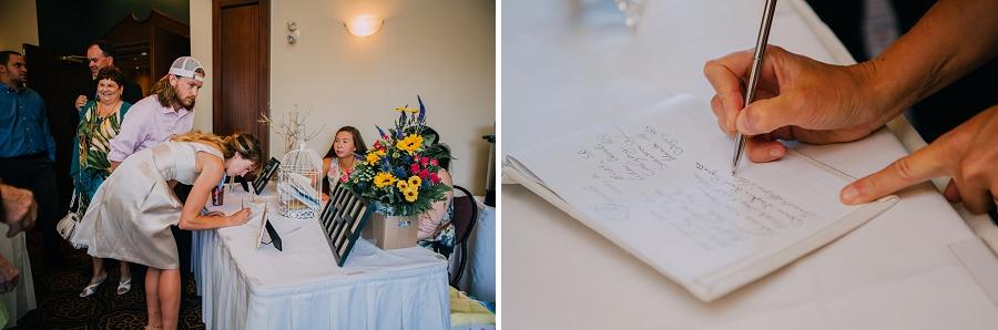 ramada plaza hotel calgary wedding photographer anna michalska sign in book guestbook