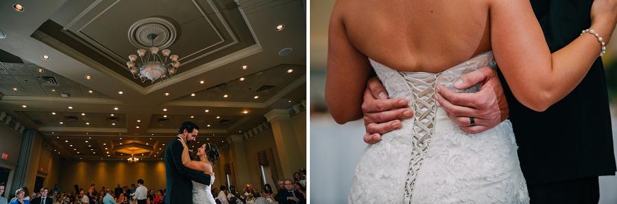 bride groom first dance ramada plaza hotel calgary wedding photographer anna michalska