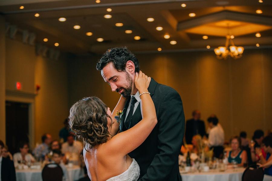 ramada plaza hotel calgary wedding photographer anna michalska bride groom first dance