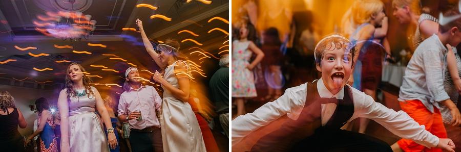 funny slow shutter dancing ramada plaza hotel calgary wedding photographer anna michalska