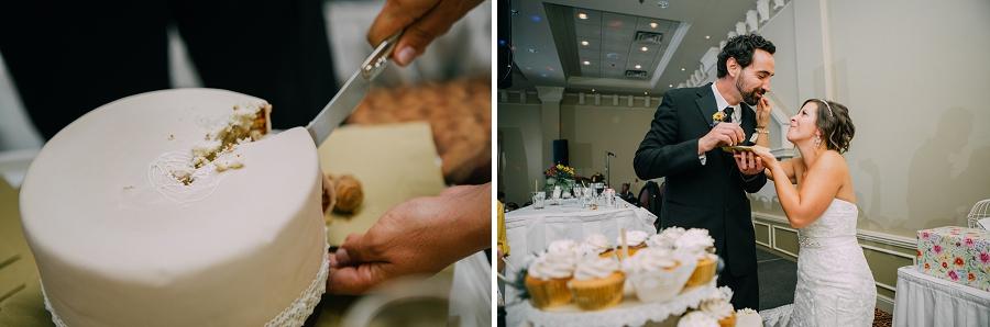 cake cutting ramada plaza hotel calgary wedding photographer anna michalska