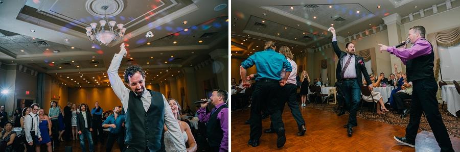 ramada plaza hotel calgary wedding photographer anna michalska garter toss