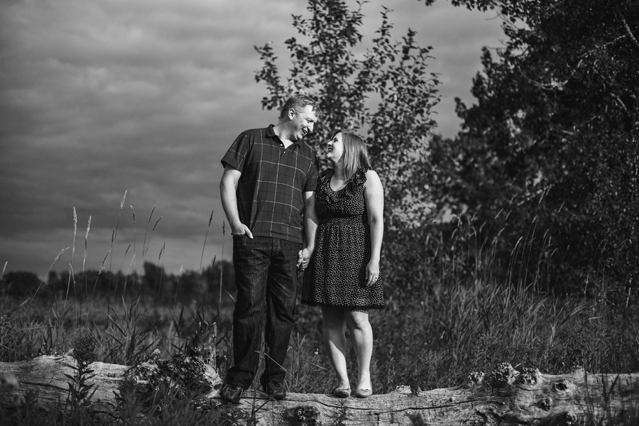 stormy skies fish creek park engagement session calgary wedding photographer anna michalska