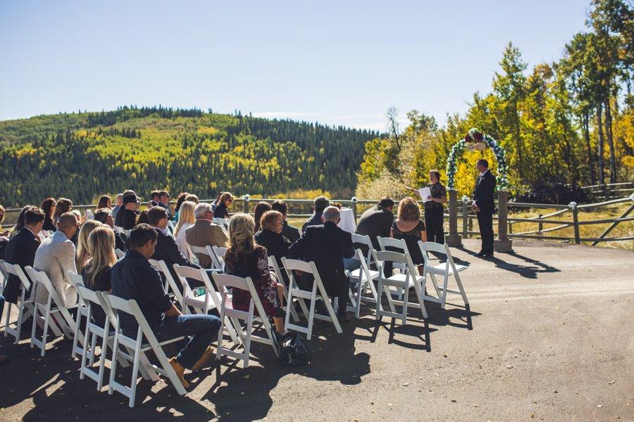 guests sitting cowboy themed wedding calgary wedding photographer anna michalska