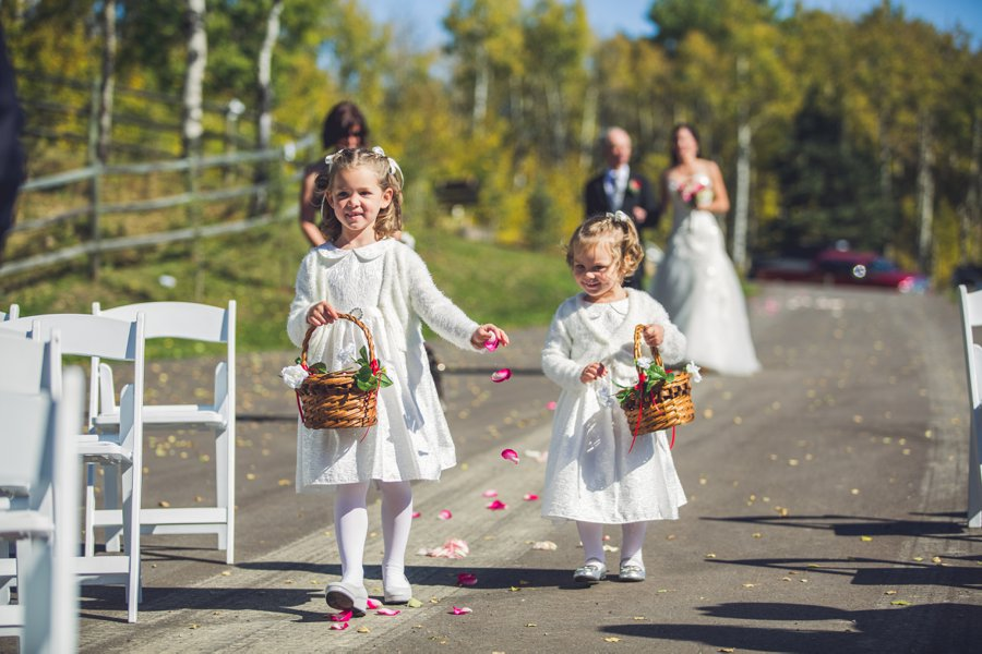 cowboy themed wedding calgary wedding photographer anna michalska flower girls