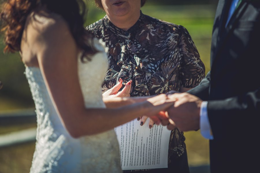 exchange of rings calgary wedding photographer anna michalska