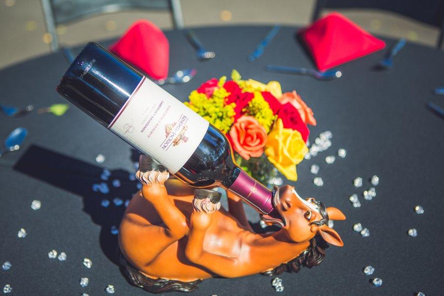 horse wine stand cowboy themed wedding calgary wedding photographer anna michalska