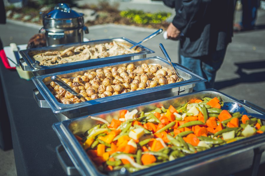 roast potatoes and vegetables cowboy themed wedding calgary wedding photographer anna michalska
