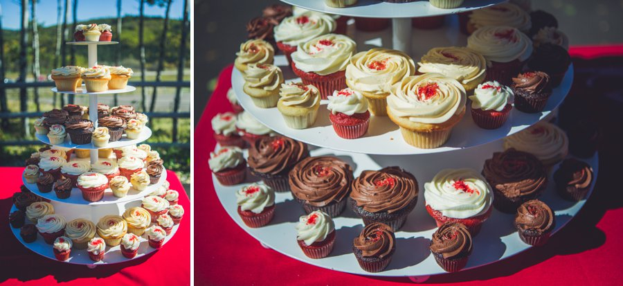 wedding cupcake tower cowboy themed wedding calgary wedding photographer anna michalska