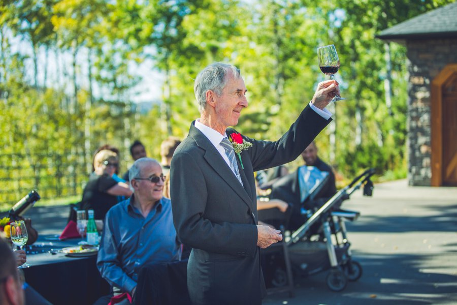toast by father of the bride calgary wedding photographer anna michalska