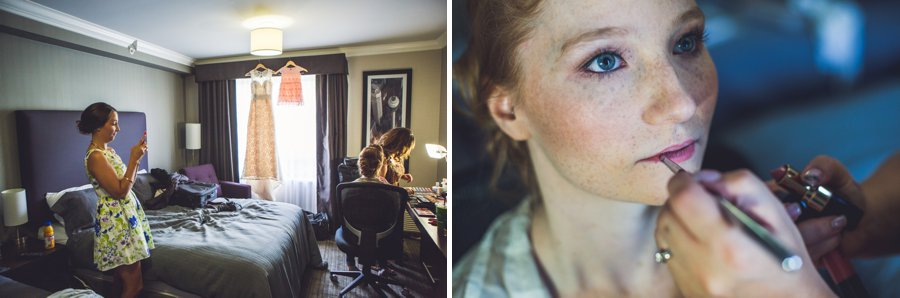 calgary wedding photographer anna michalska bride getting ready makeup