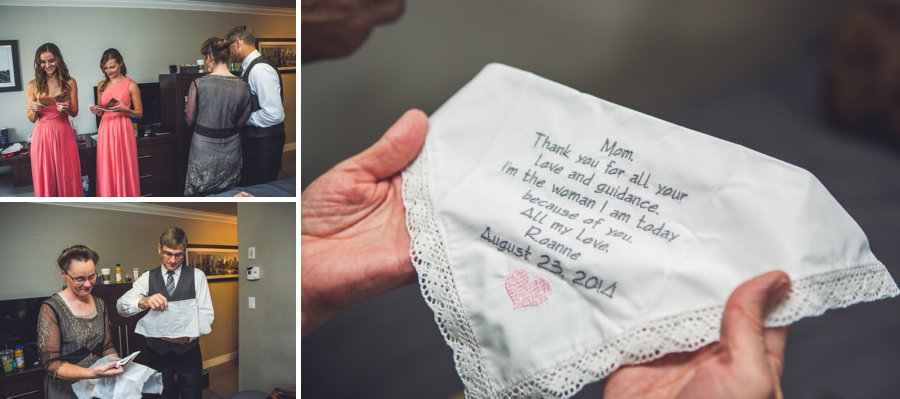 personalized parents handkerchief calgary wedding photographer anna michalska